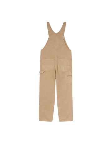 Carhartt Wip Bib Overall Dusty H Brown Worn Canvas. - Product Photo 2