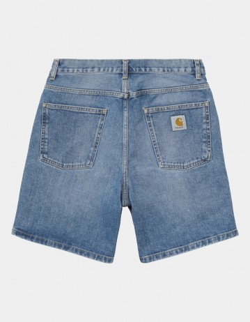 Carhartt Wip Newel Short Blue Worn Bleached. - Product Photo 1