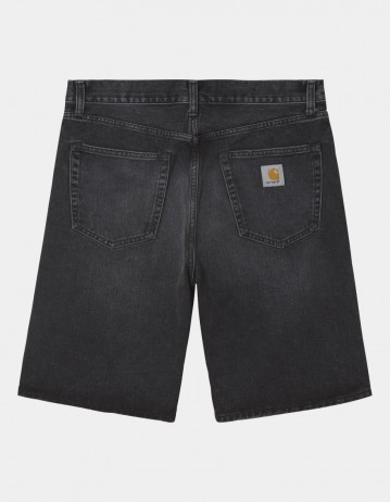 Carhartt Wip Pontiac Short Black Mid Worn Wash. - Product Photo 1