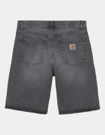 Carhartt Wip Pontiac Short Black Worn Bleached. - Product Photo 1