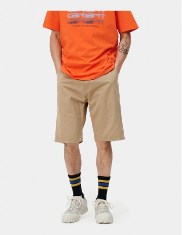 Carhartt Wip Ruck Single Knee Short Dusty H Brown Stone Washed. - Product Photo 1