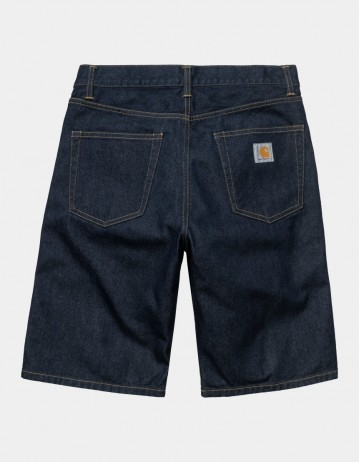Carhartt Wip Pontiac Short Blue Rinsed. - Product Photo 1