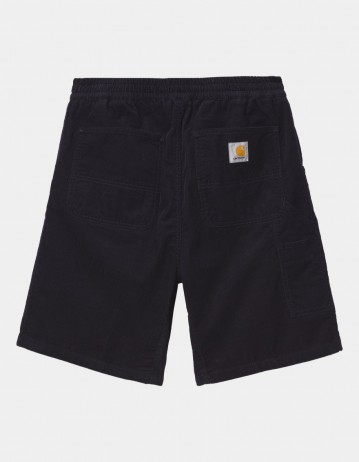 Carhartt Wip Flint Short Dark Navy Rinsed. - Product Photo 1