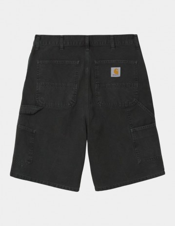 Carhartt Wip Single Knee Short Black Worn Canvas. - Product Photo 1