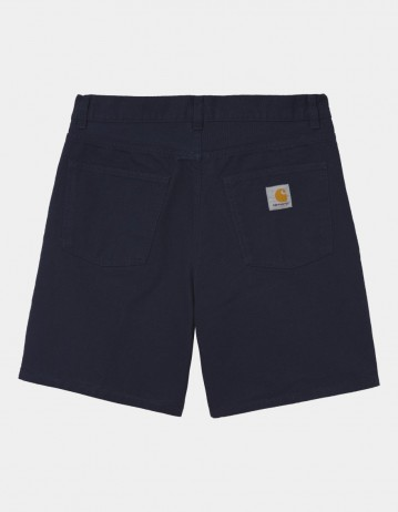 Carhartt Wip Newel Short Dark Navy Rinsed. - Product Photo 1