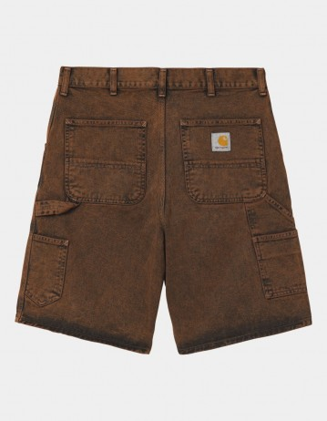 Carhartt Wip Single Knee Short Rum Crater Wash. - Product Photo 1