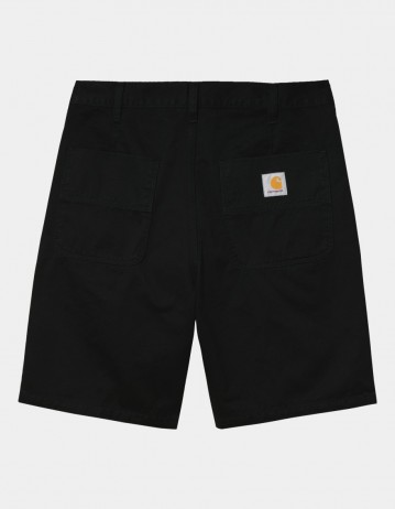 Carhartt Wip Abbott Short Black Stone Washed. - Product Photo 1