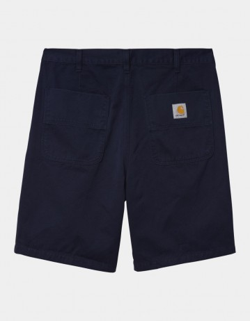 Carhartt Wip Abbott Short Dark Navy Stone Washed. - Product Photo 1