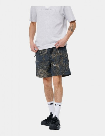 Carhartt Wip Terra Short Satellite Print, Deep Lagoon / Reflective. - Product Photo 1