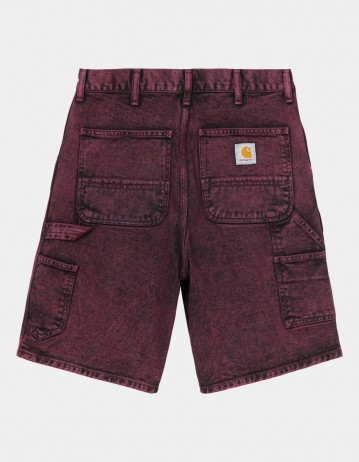 Carhartt Wip Single Knee Short Shiraz Crater Wash. - Product Photo 1
