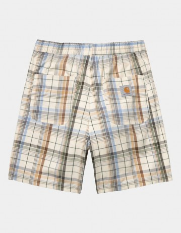 Carhartt Wip Vilay Short Vilay Check, Natural. - Product Photo 1