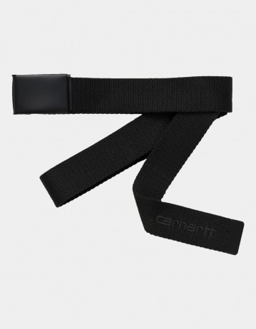 Carhartt Wip Script Belt Tonal Black. - Product Photo 1