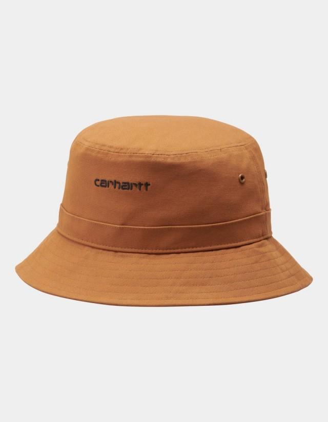 Carhartt Wip Script Bucket Hat Rum / Black. - Cap  - Cover Photo 1