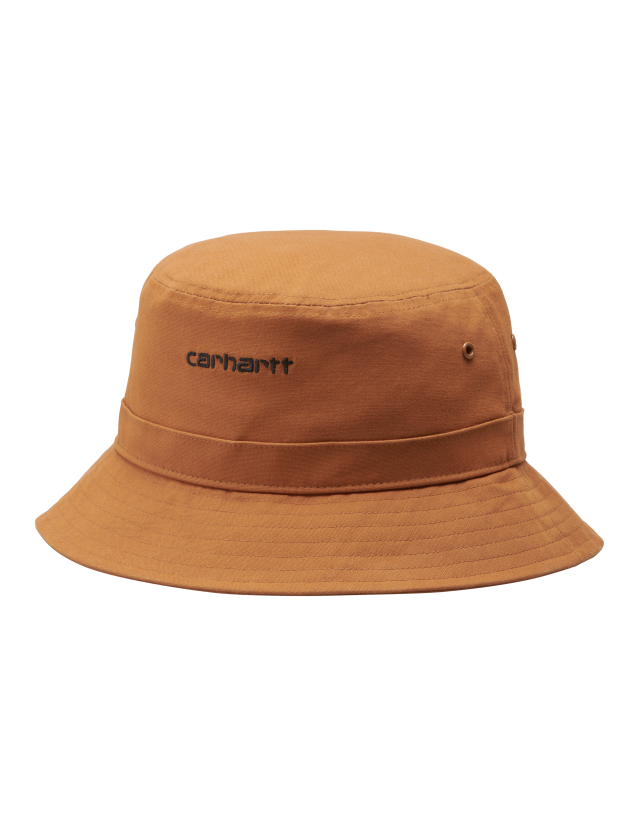 Carhartt Wip Script Bucket Hat Rum / Black. - Cap  - Cover Photo 2