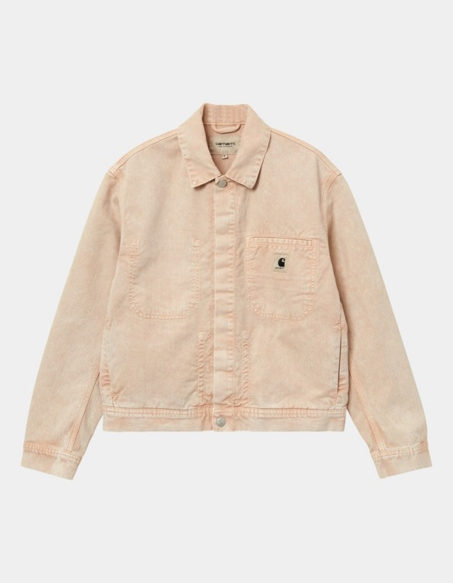 Carhartt Wip W Sonora Jacket Dusty H Brown Worn Washed. - Veste Femme  - Cover Photo 1