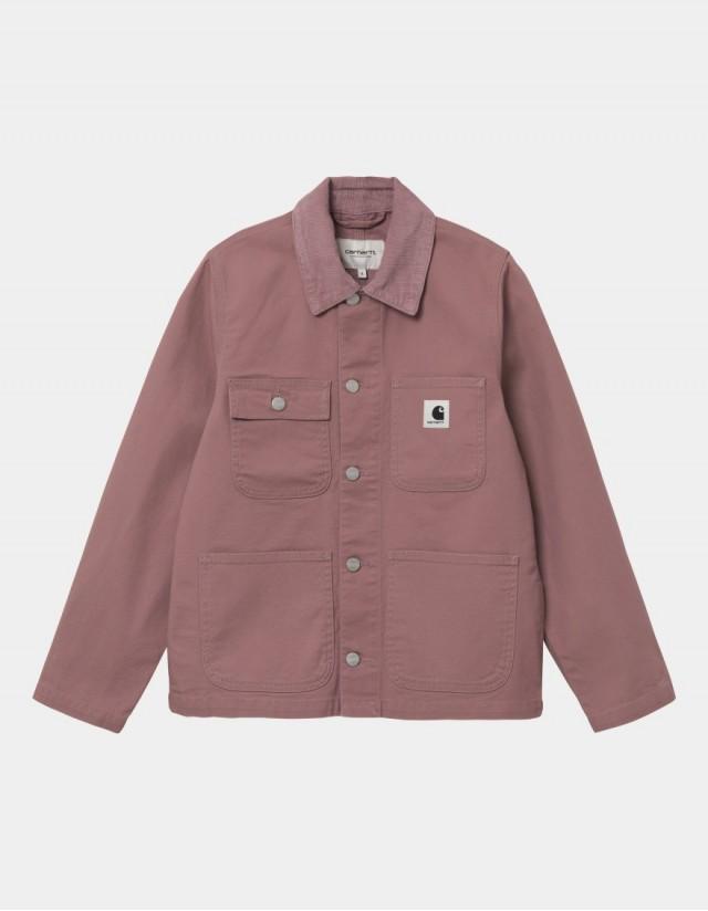 Carhartt Wip W Michigan Jacket (Summer) Malaga / Malaga Rinsed. - Veste Femme  - Cover Photo 1