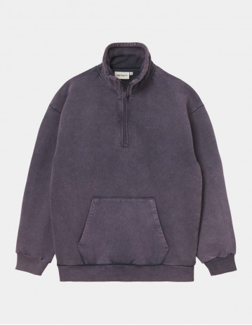 Carhartt Wip W Mosby Script Highneck Sweatshirt Provence. - Product Photo 1