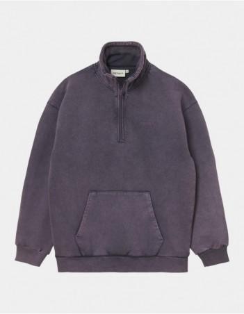 Carhartt WIP W Mosby Script Highneck Sweatshirt Provence. - Women's Sweatshirt - Miniature Photo 1