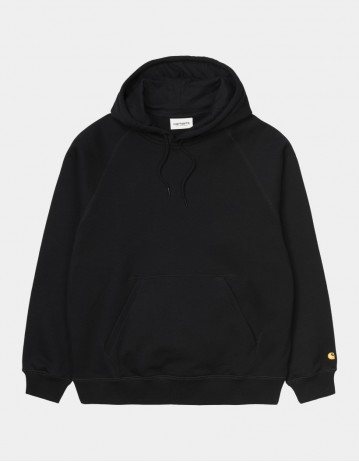 Carhartt Wip W Hooded Chase Sweatshirt Black / Gold. - Product Photo 1