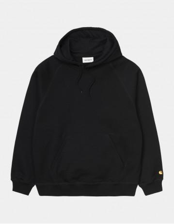 Carhartt Wip W Hooded Chase Sweatshirt Black / Gold. - Product Photo 1