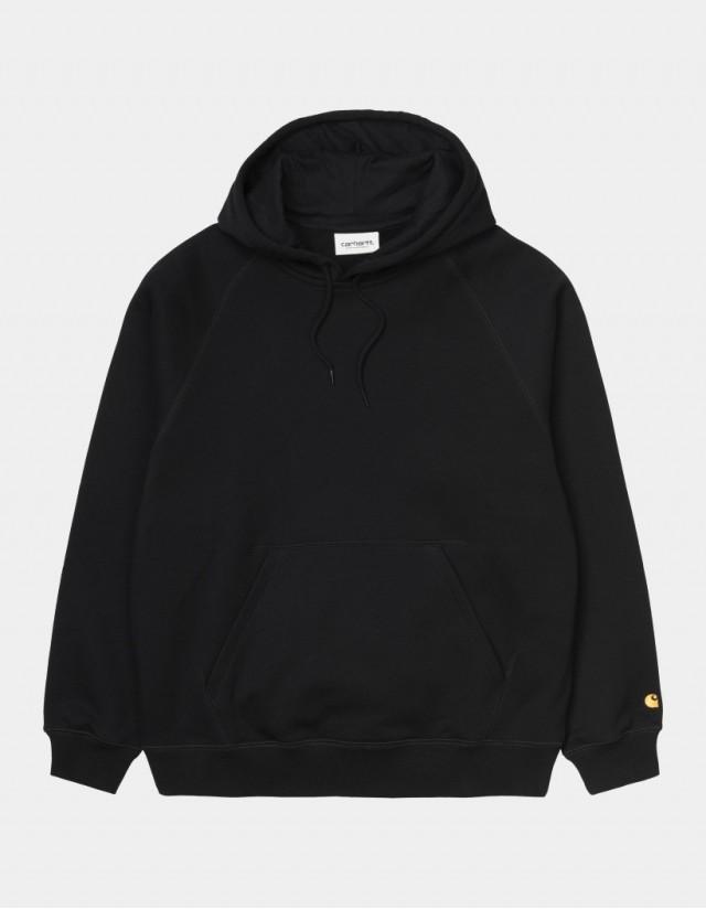 Carhartt Wip W Hooded Chase Sweatshirt Black / Gold. - Women's Sweatshirt  - Cover Photo 1
