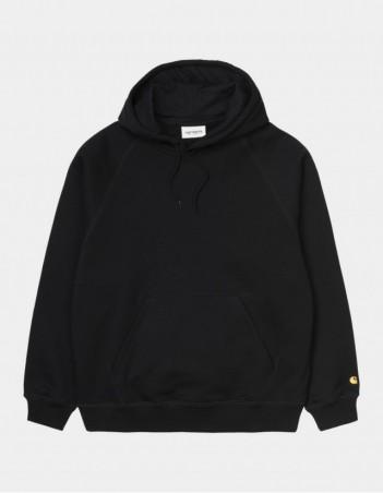 Carhartt WIP W Hooded Chase Sweatshirt Black / Gold. - Women's Sweatshirt - Miniature Photo 1