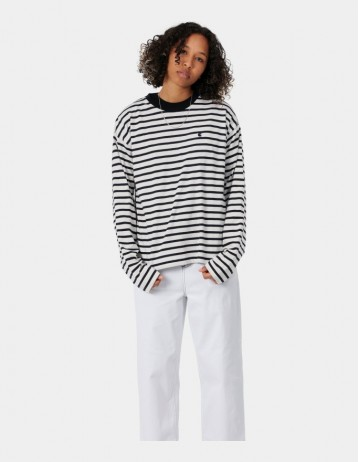 Carhartt Wip W L/S Robie T-Shirt Robie Stripe, Wax / Black. - Product Photo 1