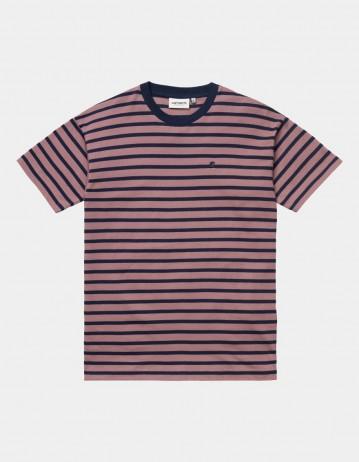 Carhartt Wip W S/S Robie T-Shirt Robie Stripe, Malaga / Space. - Product Photo 1