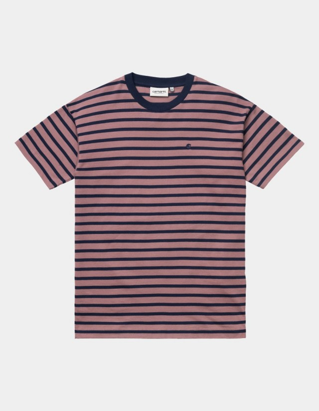 Carhartt Wip W S/S Robie T-Shirt Robie Stripe, Malaga / Space. - Women's T-Shirt  - Cover Photo 1