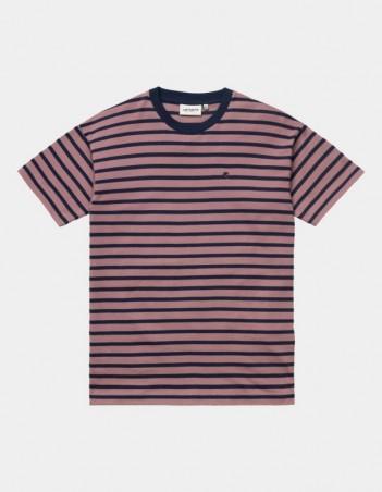 Carhartt WIP W S/S Robie T-Shirt Robie Stripe, Malaga / Space. - Women's T-Shirt - Miniature Photo 1
