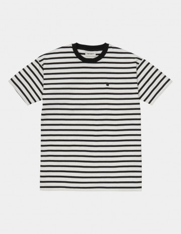 Carhartt Wip W S/S Robie T-Shirt Robie Stripe, Wax / Black. - Product Photo 1
