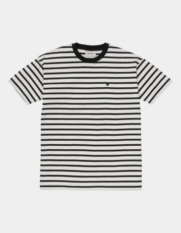 Carhartt Wip W S/S Robie T-Shirt Robie Stripe, Wax / Black. - Product Photo 1