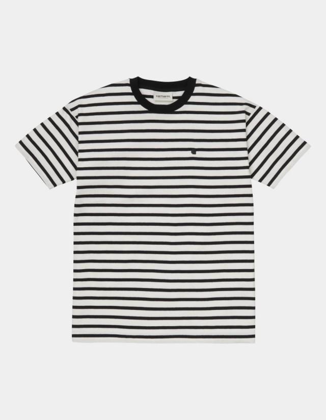 Carhartt Wip W S/S Robie T-Shirt Robie Stripe, Wax / Black. - Women's T-Shirt  - Cover Photo 1
