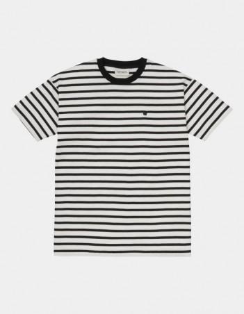 Carhartt WIP W S/S Robie T-Shirt Robie Stripe, Wax / Black. - Women's T-Shirt - Miniature Photo 1