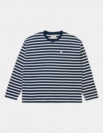 Carhartt Wip W L/S Robie T-Shirt Robie Stripe, Dark Navy / White. - Product Photo 1