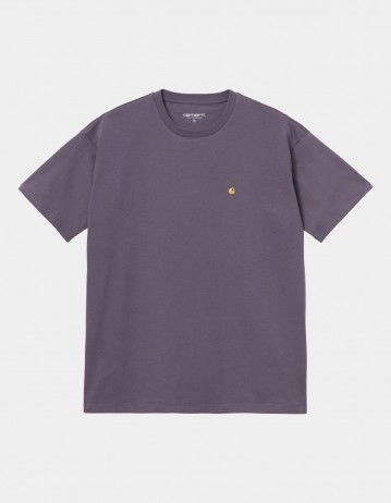 Carhartt Wip W S/S Chase T-Shirt Provence / Gold. - Product Photo 1