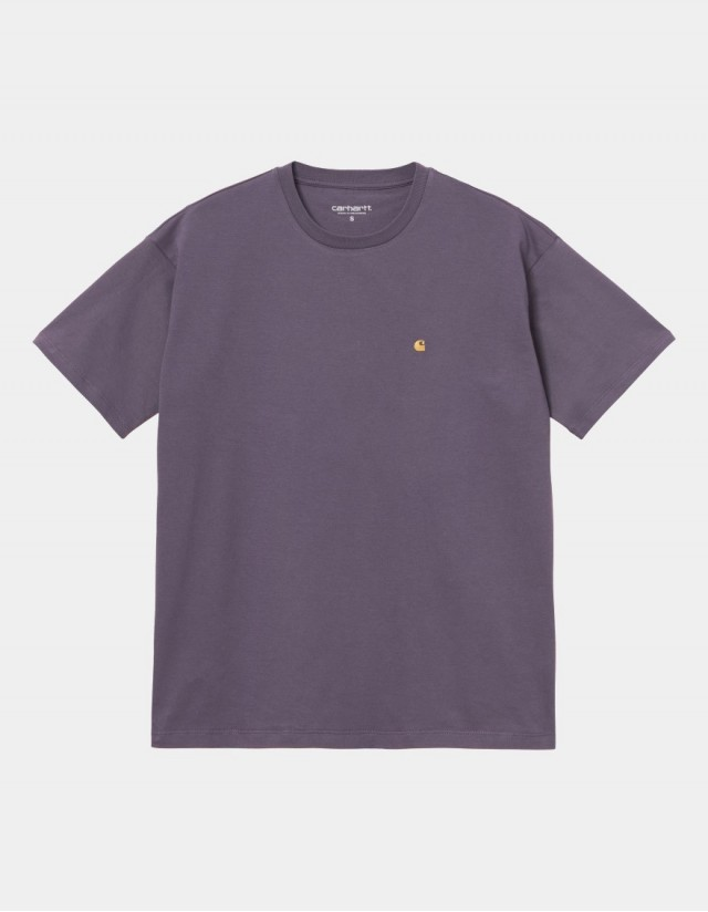 Carhartt Wip W S/S Chase T-Shirt Provence / Gold. - Women's T-Shirt  - Cover Photo 1