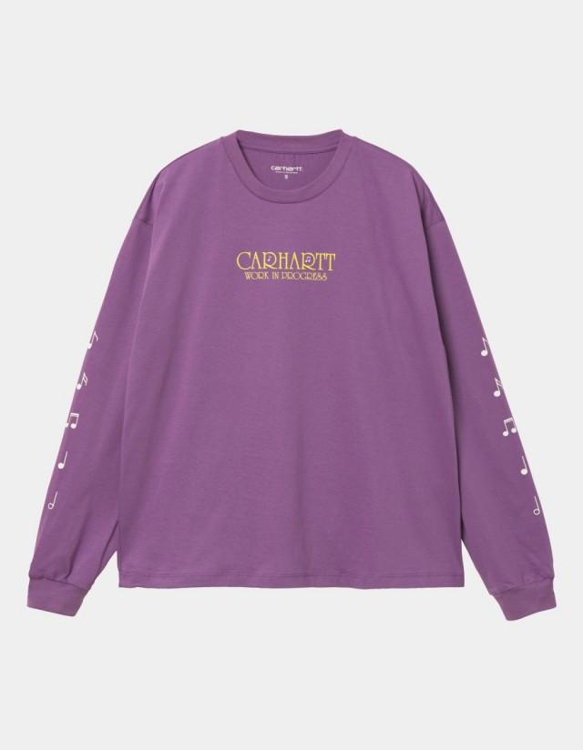 Carhartt Wip W L/S Note Script T-Shirt Aster. - Women's T-Shirt  - Cover Photo 1