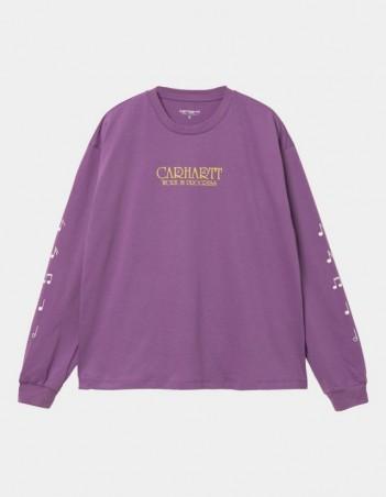 Carhartt WIP W L/S Note Script T-Shirt Aster. - Women's T-Shirt - Miniature Photo 1