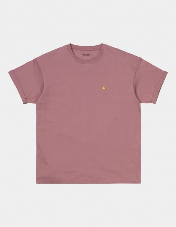 Carhartt Wip W S/S Chase T-Shirt Malaga / Gold. - Product Photo 1
