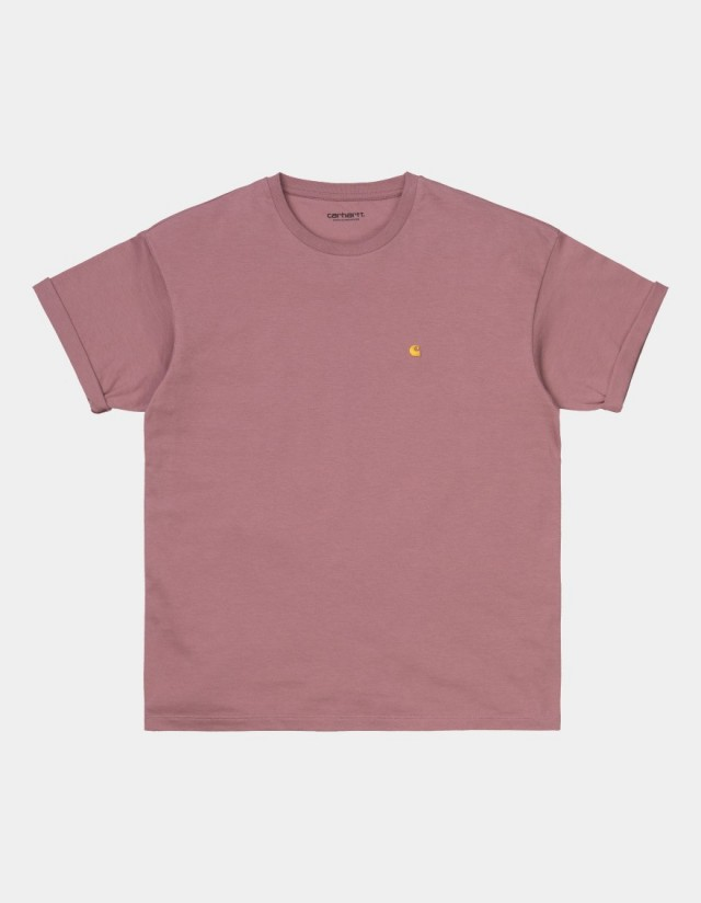 Carhartt Wip W S/S Chase T-Shirt Malaga / Gold. - Women's T-Shirt  - Cover Photo 1