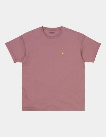 Carhartt WIP W S/S Chase T-Shirt Malaga / Gold. - Women's T-Shirt - Miniature Photo 1