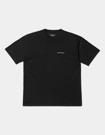 Carhartt Wip W S/S Script Embroidery T-Shirt Black / White. - Product Photo 1