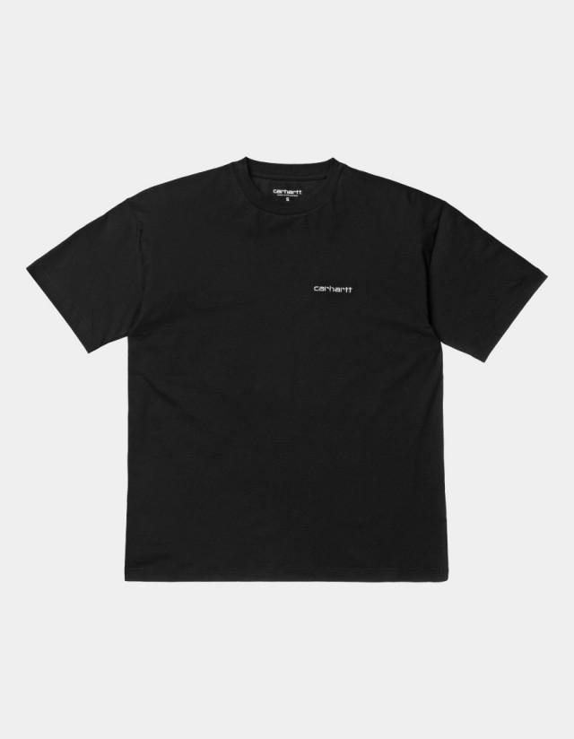 Carhartt Wip W S/S Script Embroidery T-Shirt Black / White. - Women's T-Shirt  - Cover Photo 1