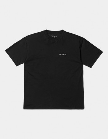 Carhartt WIP W S/S Script Embroidery T-Shirt Black / White. - Women's T-Shirt - Miniature Photo 1