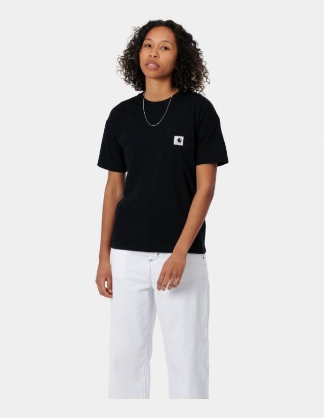 Carhartt Wip W S/S Pocket T-Shirt Black. - Women's T-Shirt  - Cover Photo 1