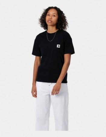 Carhartt WIP W S/S Pocket T-Shirt Black. - Women's T-Shirt - Miniature Photo 1