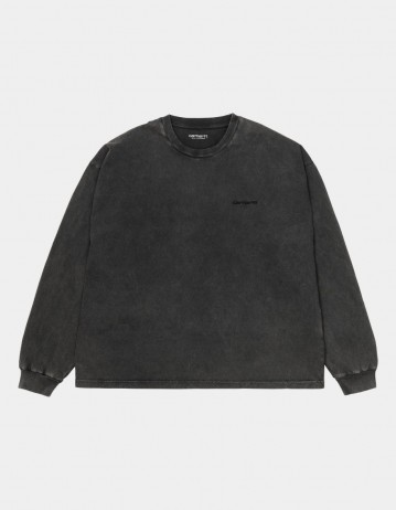 Carhartt Wip W L/S Mosby Script T-Shirt Black. - Product Photo 1