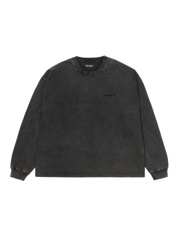 Carhartt Wip W L/S Mosby Script T-Shirt Black. - Product Photo 2