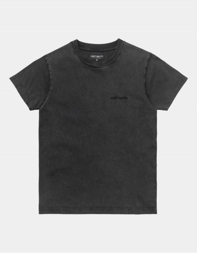 Carhartt Wip W S/S Mosby Script T-Shirt Black. - Women's T-Shirt  - Cover Photo 1